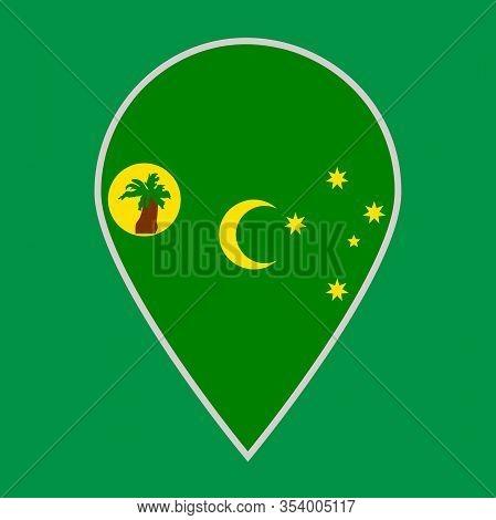 Cocos Islands Flag Icon Travel Vector Illustration Eps 10.