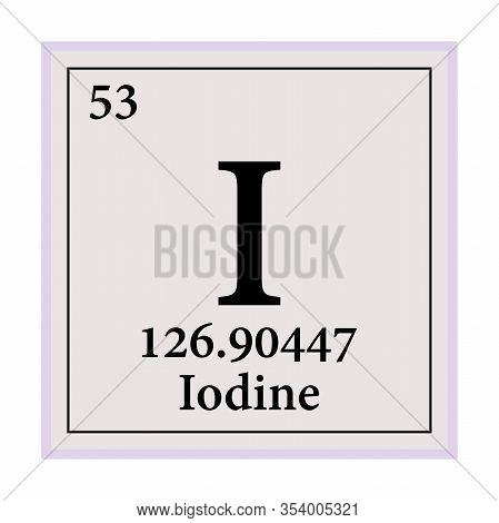 Iodine Periodic Table Of The Elements Vector Illustration Eps 10