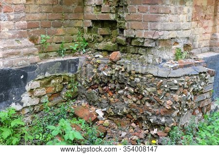 A Fragment Of The Wall Of An Old Collapsing Building.