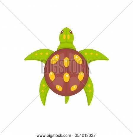 Sea Turtle Vector Illustration In Cartoon Style. Terrapins Icon Isolated. Ocean Animal.