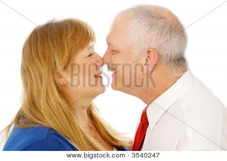 Mature Couple Rubbing Noses
