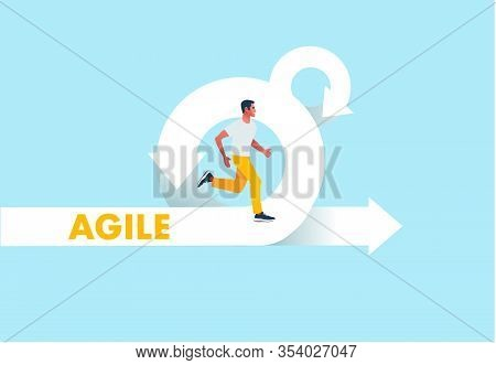 Agile Development Methodology Icon Vector Illustration. Agile Life Cycle Icon Vector.