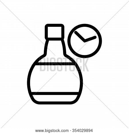 Whisky Bottle Icon Vector. Thin Line Sign. Isolated Contour Symbol Illustration