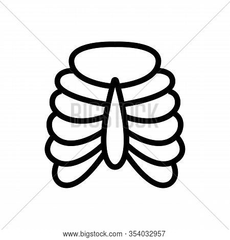 Bronchi Icon Vector. Thin Line Sign. Isolated Contour Symbol Illustration