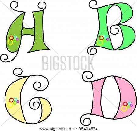 Funky Alphabet Set Design
