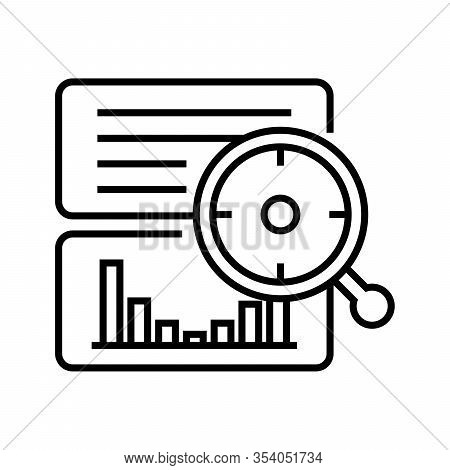 Valuable Data Line Icon, Concept Sign, Outline Vector Illustration, Linear Symbol.
