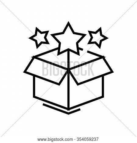 Wonder Box Line Icon, Concept Sign, Outline Vector Illustration, Linear Symbol.