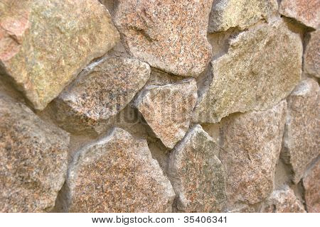 fieldstone wall under the sun