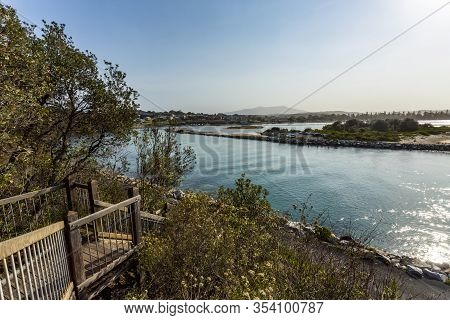 Panorama Of The Wagonga Inlet Seen From The Viewing Platform, In Narooma, Nsw South Coast, Australia