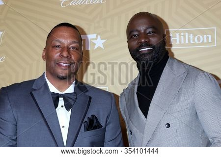 LOS ANGELES - FEB 23:  Deon Taylor, Michael Colter at the American Black Film Festival Honors Awards at the Beverly Hilton Hotel on February 23, 2020 in Beverly Hills, CA