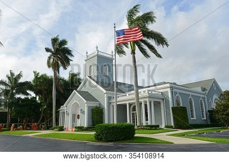 Royal Poinciana Chapel Was Built In 1896 In Palm Beach, Florida Fl, Usa.