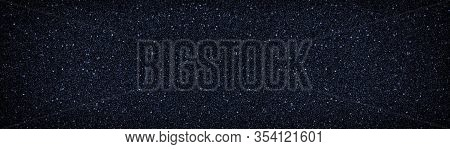 Black Grain Surface Wide Texture. Dark Blue Creative Abstract Background