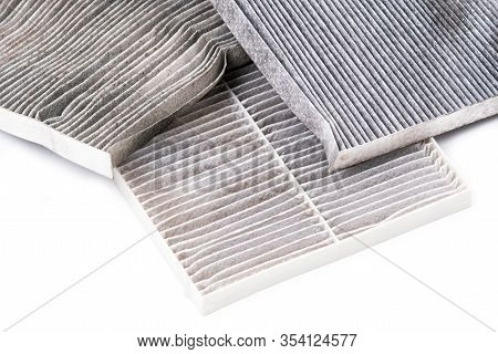 Dirty Car Air Condition Filter Isolated
