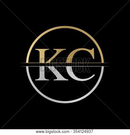 Initial Kc Letter Logo Design Vector Illustration. Abstract Letter Kc Logo Design