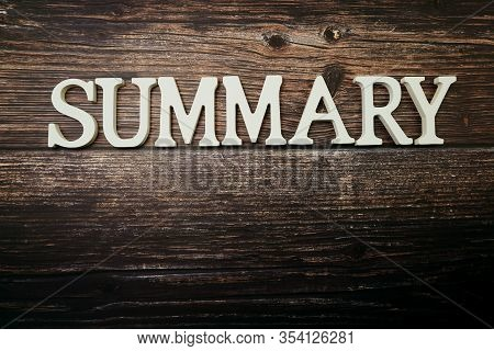 Summary Alphabet Letters With Space Copy On Wooden Background