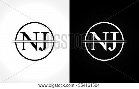 Initial Monogram Letter Nj Logo Design Vector Template. Nj Letter Logo Design