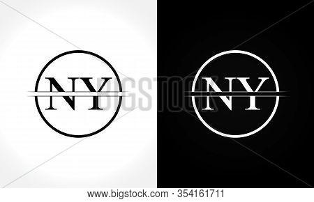 Initial Monogram Letter Ny Logo Design Vector Template. Ny Letter Logo Design