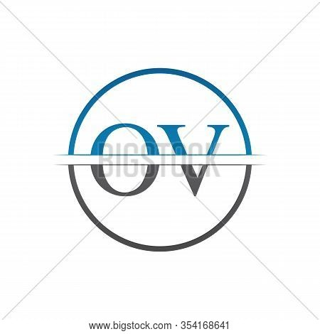 Initial Monogram Letter Ov Logo Design Vector Template. Ov Letter Logo Design