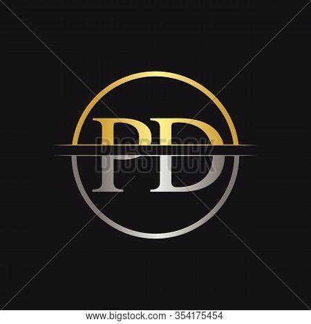 Initial Monogram Letter Pd Logo Design Vector Template. Pd Letter Logo Design