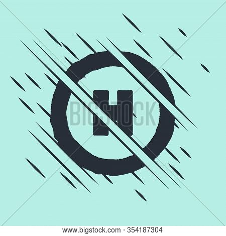 Black Helicopter Landing Pad Icon Isolated On Green Background. Helipad, Area, Platform, H Letter. G
