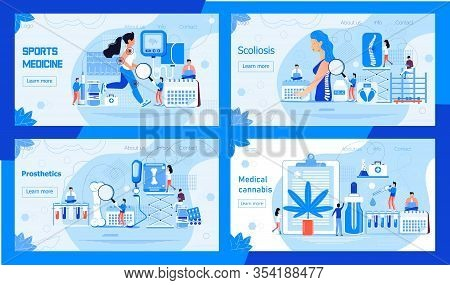 Scoliosis Concept Vector. Vertebral Osteochondrosis, Osteoporosis Illustration. Advantages Of Medica