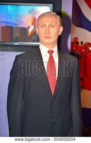 Bangkok, Th - Dec 13: Russian President Vladimir Putin Wax Figure At Madame Tussauds On December 13,