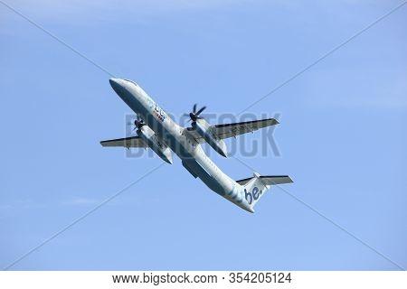 Amsterdam The Netherlands - May 6th, 2017: G-flba Flybe De Havilland Canada Dhc-8-402q Dash 8 Takeof