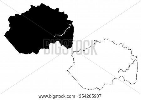 Cuyuni-mazaruni Region (administrative Regions Of Guyana, Co-operative Republic Of Guyana) Map Vecto