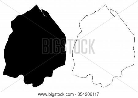 Pomeroon-supenaam Region (administrative Regions Of Guyana, Co-operative Republic Of Guyana) Map Vec