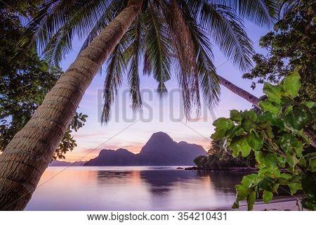 Sunset Over Cadlao Island El Nido Palawan Philippines