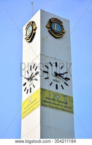 Bangkok, Th - Dec 11: Clock Tower At Chatuchak Park On December 11, 2016 In Bangkok, Thailand. Chatu