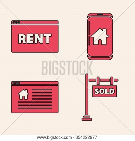 Set Hanging Sign With Text Sold, Hanging Sign With Text Online Rent, Mobile Phone With Smart Home An