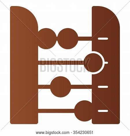Abacus Flat Icon. Accounting And Arithmetic Tool, Retro Counter. Education Vector Design Concept, Gr