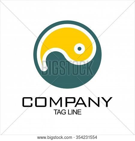 Yin Yang Icon. Yin Yang Icon Vector Flat Illustration For Graphic And Web Design Isolated On Black B