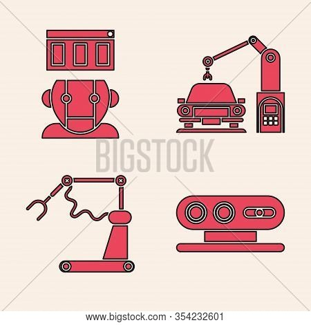 Set 3d Scanning System, Robot, Industrial Machine Robotic Robot Arm Hand And Industrial Machine Robo