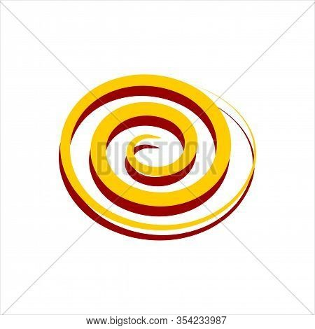 Spiral And Swirls Logo Design Elements, Icons, Symbols And Signs. Flower Swirl Line Logo, Spiral Log