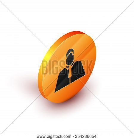Isometric Lawyer, Attorney, Jurist Icon Isolated On White Background. Jurisprudence, Law Or Court Ic