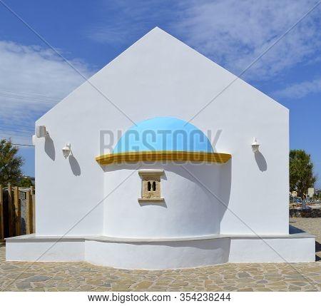 Kato Gouves, Crete, Cyprus, Greece - June 2, 2019 : Church Of Saints Constantine And Helen A Beautif
