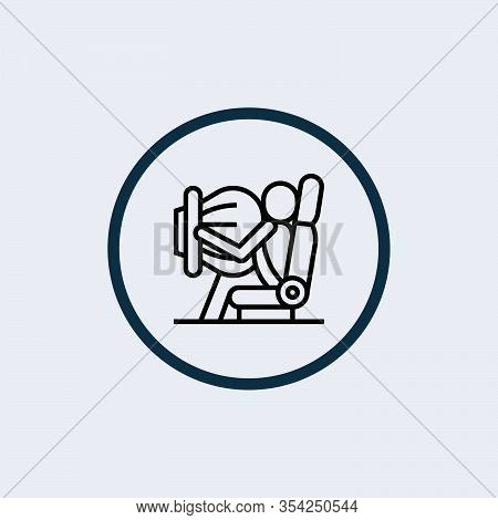 Airbag Icon Isolated On White Background. Airbag Icon Simple Sign. Airbag Icon Trendy And Modern Sym