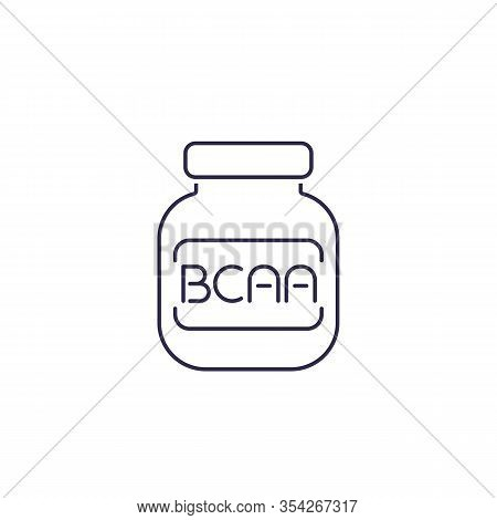 Bcaa, Amino Vector Line Icon, Eps 10 File, Easy To Edit
