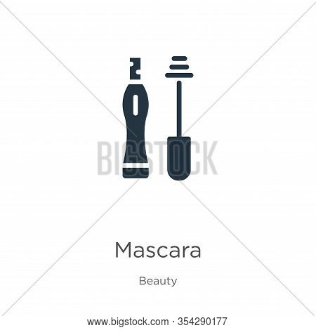 Mascara Icon Vector. Trendy Flat Mascara Icon From Beauty Collection Isolated On White Background. V