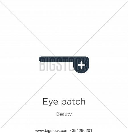 Eye Patch Icon Vector. Trendy Flat Eye Patch Icon From Beauty Collection Isolated On White Backgroun
