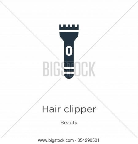 Hair Clipper Icon Vector. Trendy Flat Hair Clipper Icon From Beauty Collection Isolated On White Bac