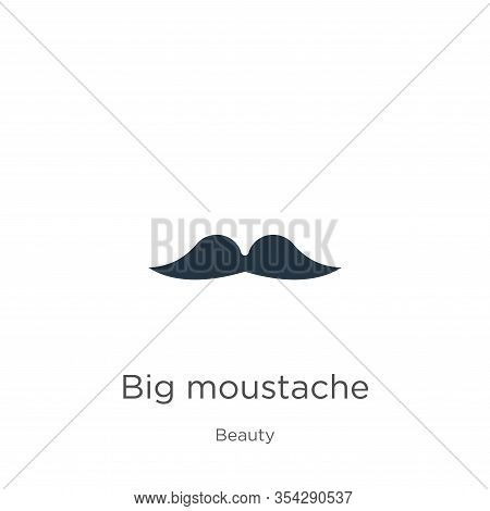 Big Moustache Icon Vector. Trendy Flat Big Moustache Icon From Beauty Collection Isolated On White B