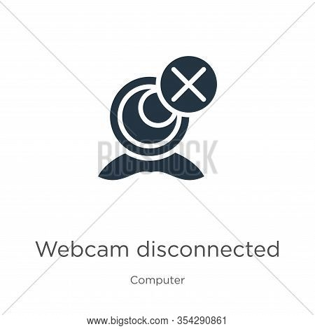 Webcam Disconnected Icon Vector. Trendy Flat Webcam Disconnected Icon From Computer Collection Isola