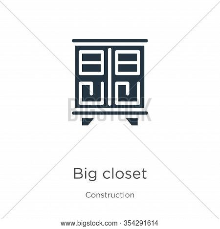 Big Closet Icon Vector. Trendy Flat Big Closet Icon From Construction Collection Isolated On White B