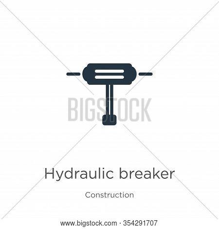 Hydraulic Breaker Icon Vector. Trendy Flat Hydraulic Breaker Icon From Construction Collection Isola
