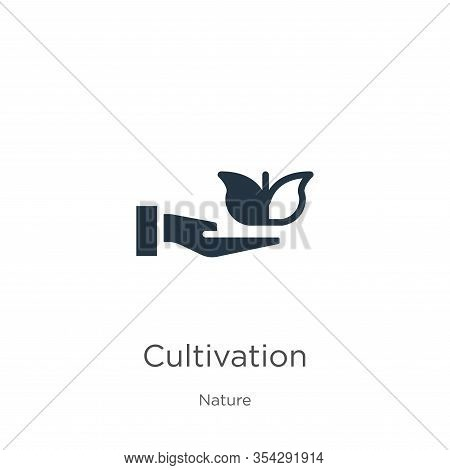 Cultivation Icon Vector. Trendy Flat Cultivation Icon From Nature Collection Isolated On White Backg
