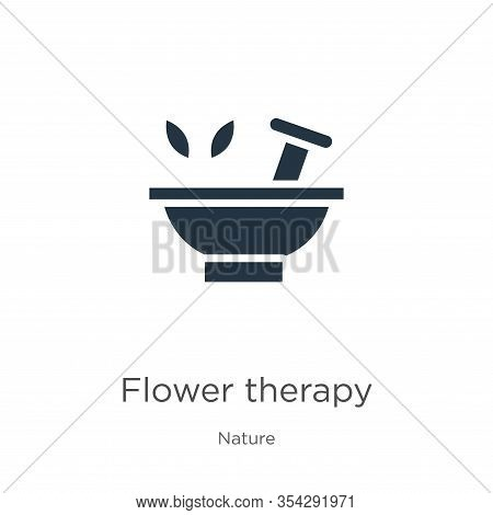 Flower Therapy Icon Vector. Trendy Flat Flower Therapy Icon From Nature Collection Isolated On White