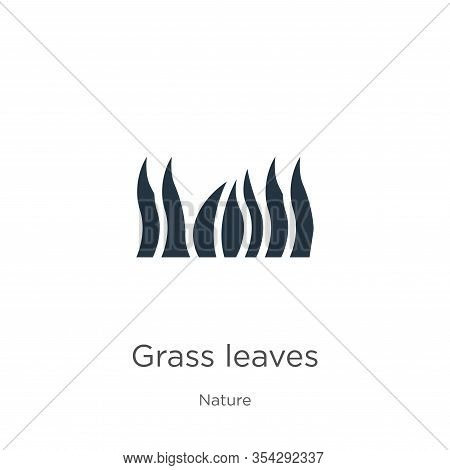 Grass Leaves Icon Vector. Trendy Flat Grass Leaves Icon From Nature Collection Isolated On White Bac